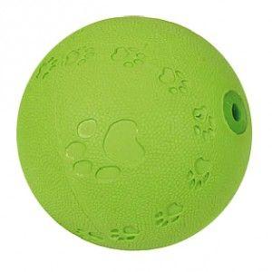 Balle caoutchouc pattes - pouic - Balle en caoutchouc qui pouic. Motifs avec pattes de chien. Agréable pour le chien et résistant.