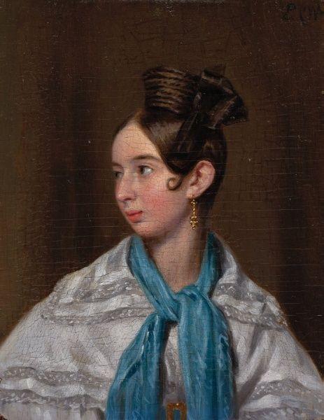 Elisa Pearson Playter, c. 1837 | Pieter Christoffel Wonder (Utrecht, 1780-1852 Amsterdam). Elisa Pearson trouwde in 1837 te Amsterdam met de in Utrecht geboren Henricus Franciscus Plaijter.
