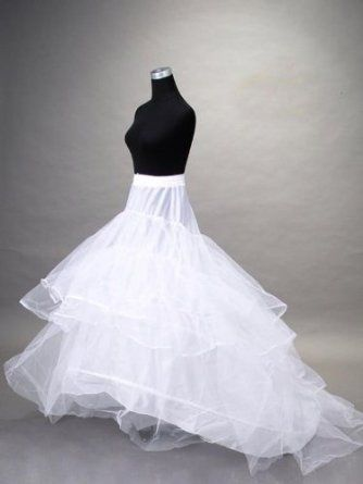 Loywe, Reifrock Petticoat mit Schleppe, aus Satin,Taille Umfang bis 90cm, LW4804: Amazon.de: Bekleidung