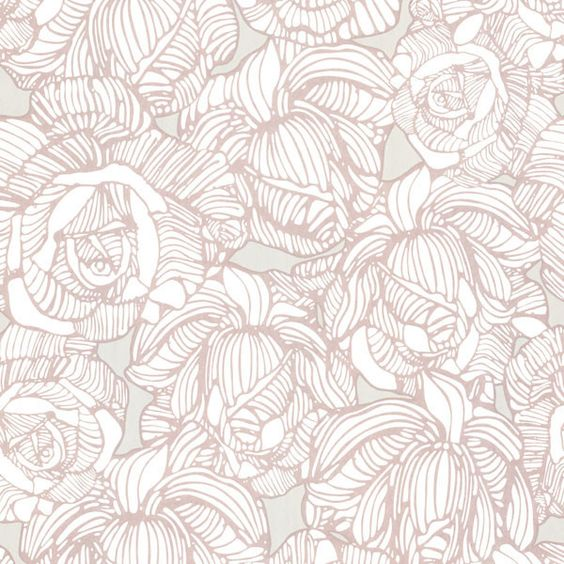 Calista Taupe Modern Rose Wallpaper design by Brewster Home Fashions