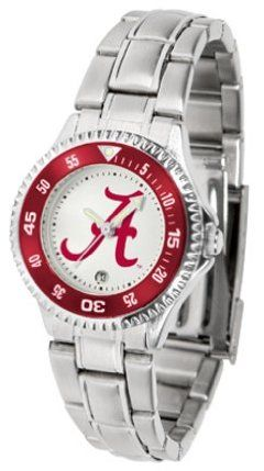 Alabama Crimson Tide Competitor Ladies Watch with Steel Band by SunTime. $85.45. Showcase the hottest design in watches today! The functional rotating bezel is color-coordinated to compliment the NCAA Alabama Crimson Tide logo. The Competitor Steel utilizes an attractive and secure stainless steel band.