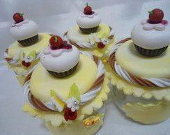 3A2014 - Joguinho Amarelo Cup Cake