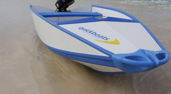 Quickboats portable folding boat gone fishin for Portable fishing boat