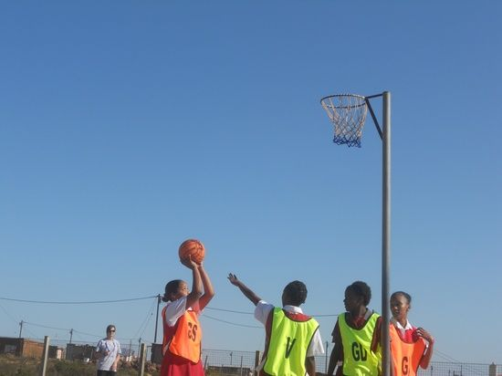Learning to shoot! Find out more about our sports coaching placements in South Africa on www.volunteervacations.co.uk