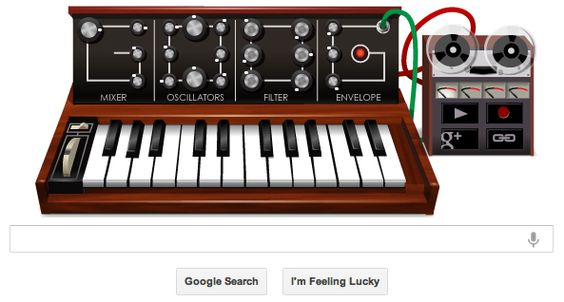 Goog Moog - Google Doodle tribute to Bob Moog on what would have been his 78th birthday.