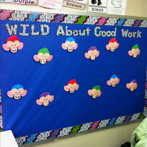 Bulletin Board With Clothes Pin Monkeys It Makes It Easy