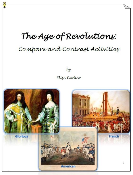 essay comparing and contrasting the french and american revolution