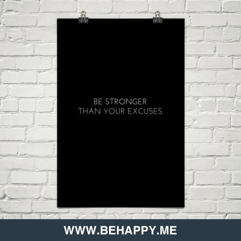 Be stronger than your excuses. http://innerclout.com