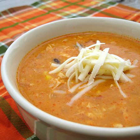 Chicken Enchilada Soup- everyone in my family really liked this. Its a keeper!