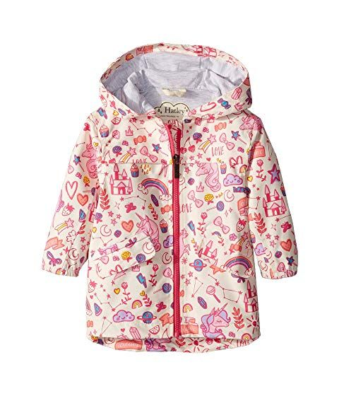 This Cute Rain Jacket For Girls Is Adorned With A Unicorn Doodle Print This Jacket Is Made From Water Childrens Rain Coats Cute Rain Jacket Girls Rain Coat