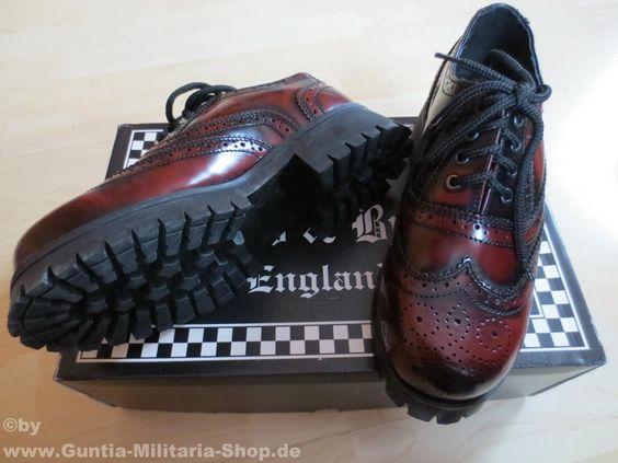 Boots and Braces 4-Loch, Brouge, burgundy, Streetstyle / mehr Infos auf: www.Guntia-Militaria-Shop.de