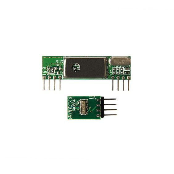 Geeetech Superheterodyne 3400 Wirelesss Receiver + 433MHz RF Transmitter Kit - Green. The kit is consisted of transmitter and receiver, popular used for remote control. TX Technical Specifications: 1. Working voltage: 3V~12V 2. Working current: max 40mA (12V), min9mA(3V) 3. Resonance mode: sound wave resonance (SAW) 4. Modulation mode: ASK /OOK 5. Working frequency: 315MHz-433.92MHz, customized frequency is available. 6. Transmission power: 25mW (315MHz at 12V) 7. Frequency error: +150kHz…