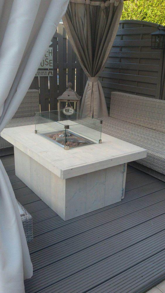 Prachtig bij het buiten interieur. Kijk op www.vuur-tafels.nl voor meer sfeerimpressies.: