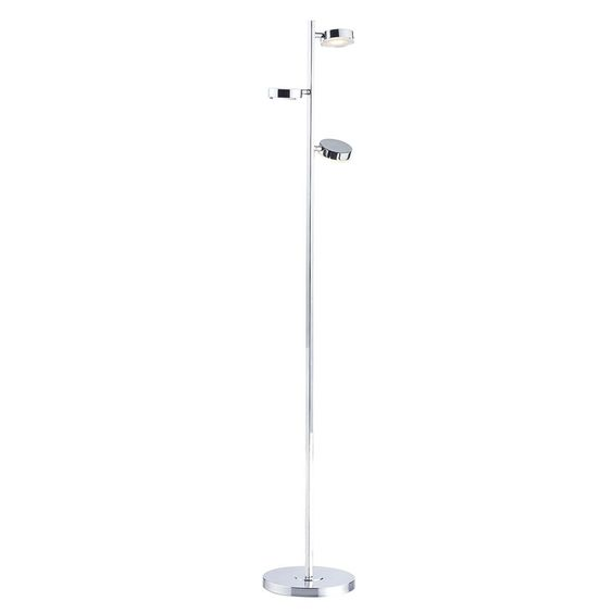 The Takoma from Dar is a dedicated LED Floor Lamp with three independent adjustable lamps on a polished chrome frame. A sleek, modern alternative to the traditional