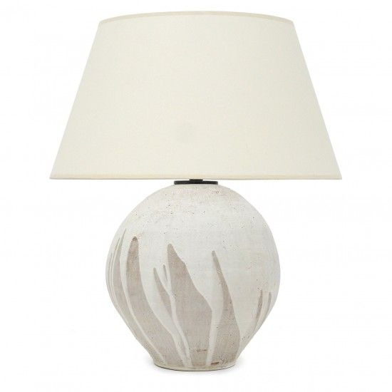 Beige And White Stoneware Lamp With Images Lamp White Lamp