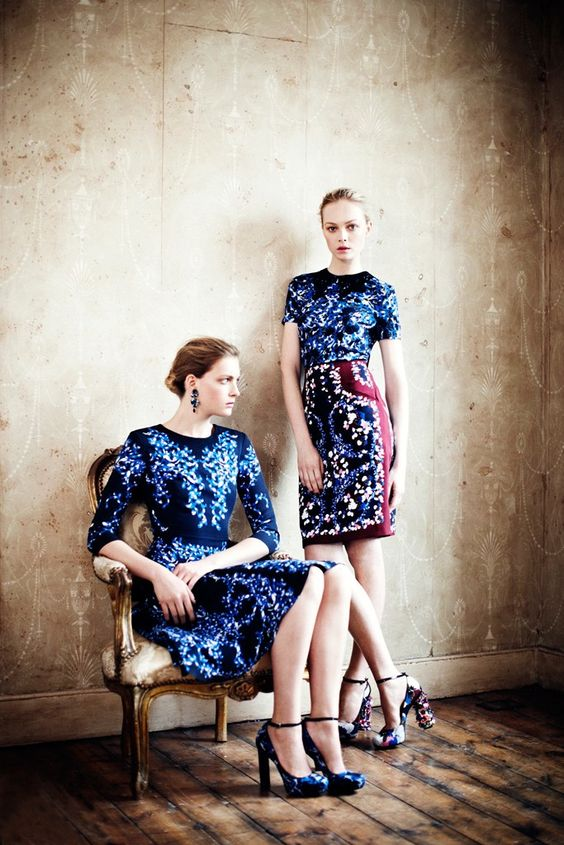 Left: Erdem dress worn by Zara Phillips: