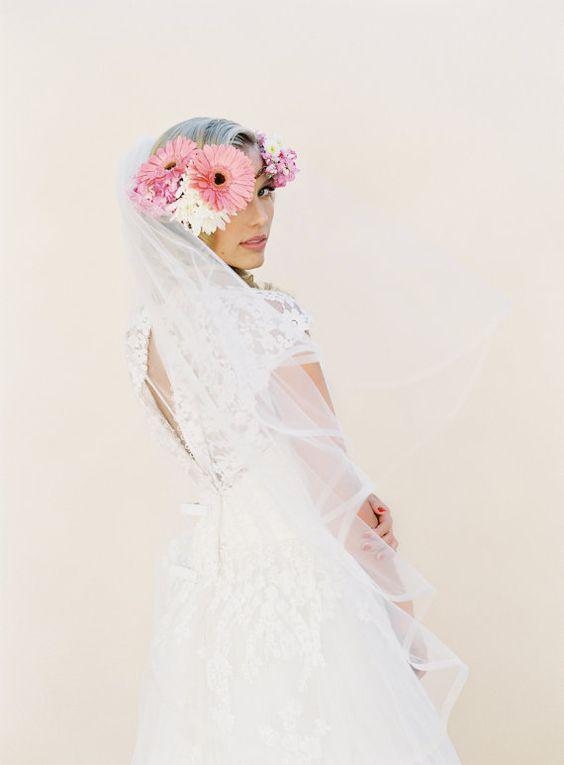 Wedding Veil Angel Horsehair Edge Wedding Veil 2 por veiledbeauty