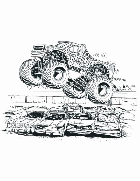 Monster Truck Drawings Color Elegant Little Blue Truck Coloring Page Istiridyemantari Monster Truck Coloring Pages Truck Coloring Pages Monster Truck Drawing