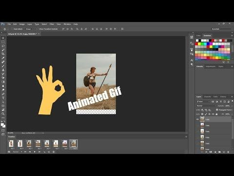 Create An Animated Gif In Photoshop Cc Youtube Photoshop