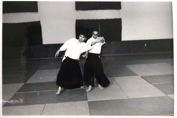 Rev. Kensho Furuya taking ukemi for, I think, Tadaharu Wakabayashi