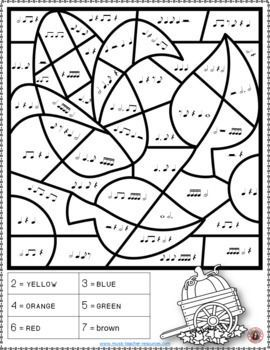 Music Lessons Music Theory Fall Color By Music Note 26 Music Coloring Pages Musiceducation Fall Music Coloring Music Coloring Fall Music