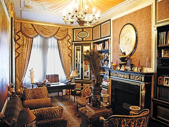 Ivana Trump's Leopard Room : ) - from People Magazine, June 2009