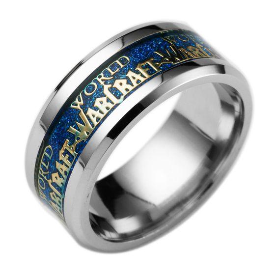 Buy World of Warcraft Ring Stainless Steel Crystal online $9.90 with FREE shipping!!    #warcraft #worldofwarcraft #warcraftmovie #wowaddict #warlordsofdraenor #frostmourne #horde #alliance #blizzard #warcraftaddict #forthealliance #forthehorde #azeroth #heartstone #overwatch #videogames #gameaddict
