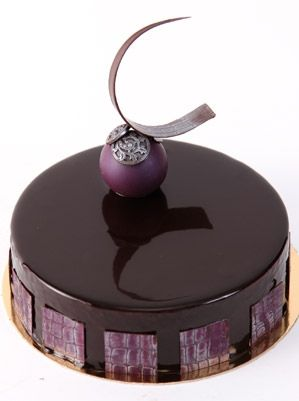French entremet with chocolate decorations by Mark Tilling