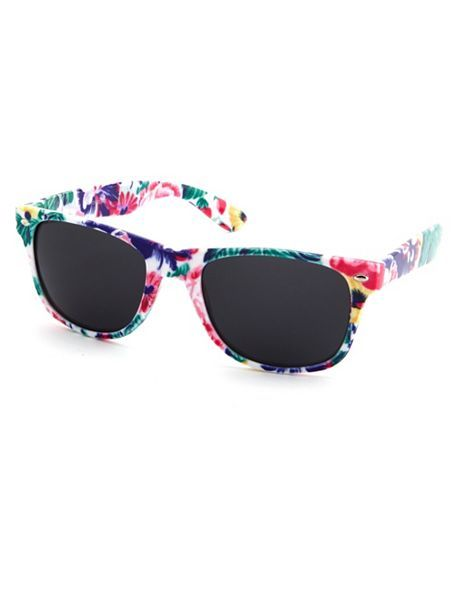 Vibrant Floral Plastic Shades: Charlotte Russe