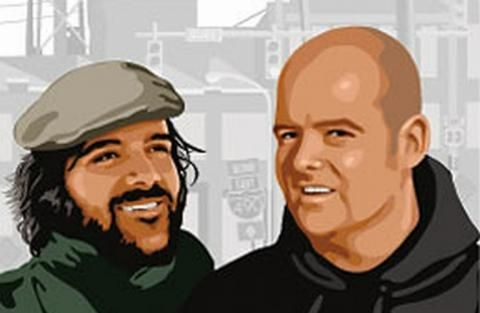 Dan and Sam Houser (Founders of Rockstar Games along with more people)