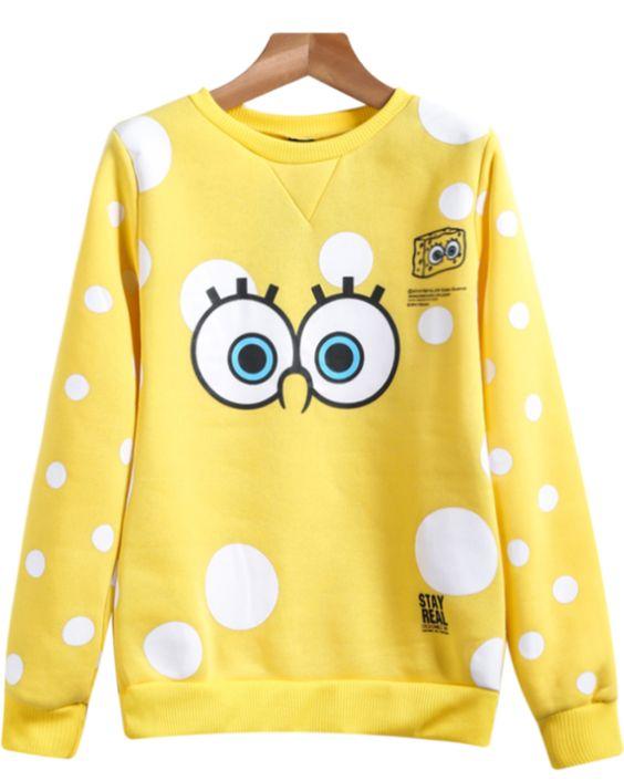 Sweat-Shirt image SpongeBob manche longue  10.48