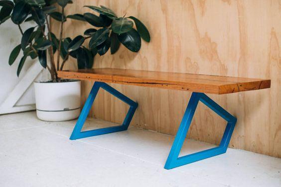 Geometric table legs.