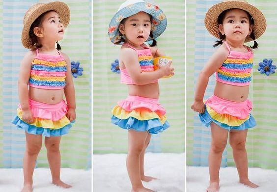 children beachwear | Free-Shipping-children-girl-kids-swimsuit-swimwear-beach-wear-bikini ...