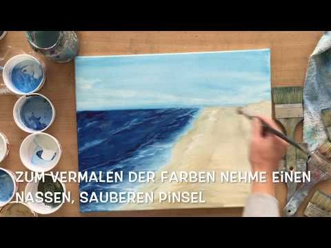 Meer Wolken Malen Mit Acryl Anleitung Tutorial Lasurtechnik