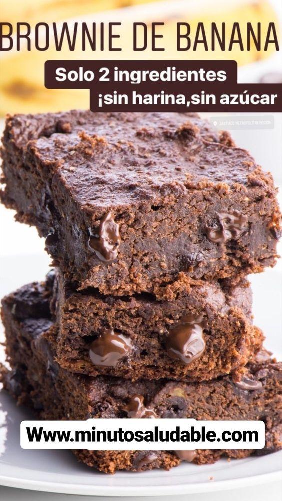 #Brownie de Banana - #Receta #Saludable que no te puedes perder...