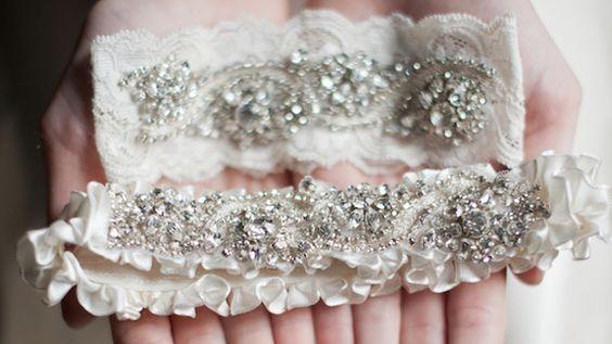 Stunning couture wedding garters
