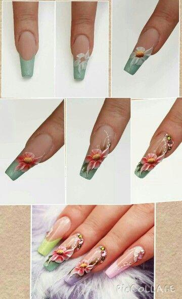 Step by step nail art in rilievo