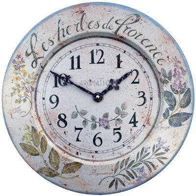 Roger Lascelles - French Tin 'Herbes' Wall Clock