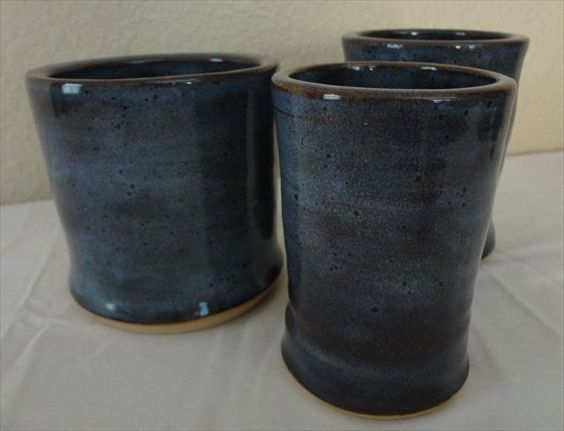 Love the dark blue--what would I do with three?  Hmm...  By JennetteDuncan, Etsy.