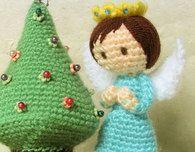 Free Patterns — Miniature Christmas Tree & Angels