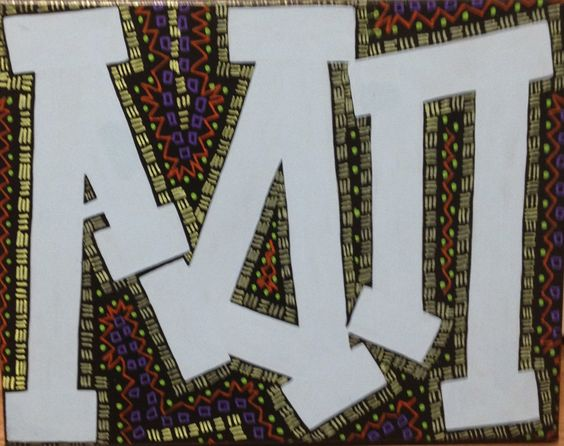 adpi big little crafts adpi letters tribal