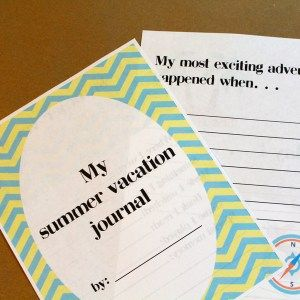 Printable summer vacation journal