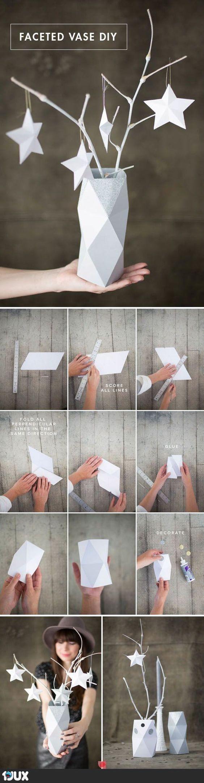 ´Faceted Vase DIY  Nicht ganz Origami