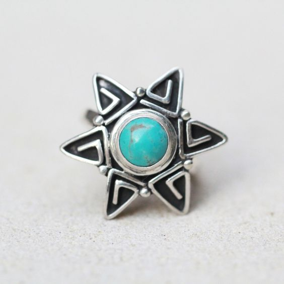 Turquoise Star Ring