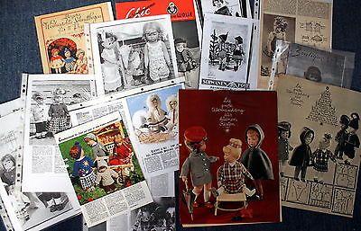 Viele-vintage-Anleitungen-Schnittmuster-Schnitte-Haekeln-Kaethe-Kruse-Puppen
