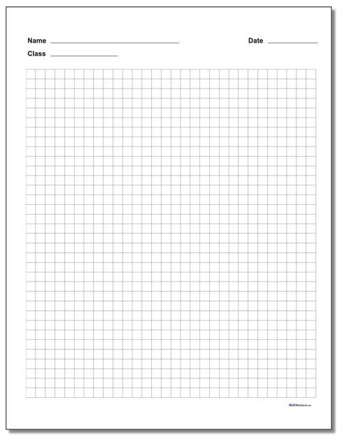 This Free Printable Graph Paper Pdf Includes A Name And Date Block At The Top Of The Page Which Makes It Per Printable Graph Paper Printable Paper Graph Paper