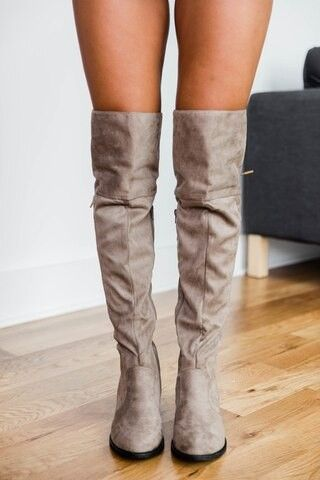 The Janet Taupe Knee High Boots
