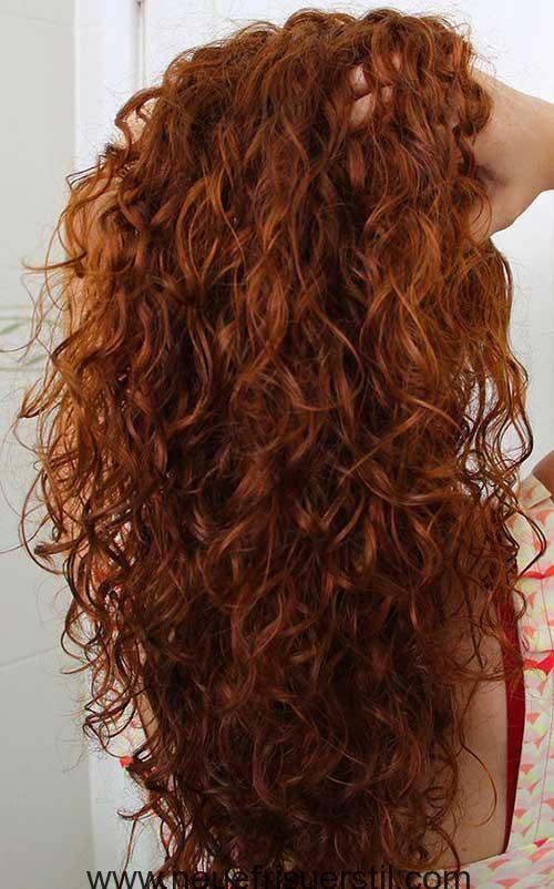 Lockige Und Lange Frisuren Fur Eine Neue Erscheinung Lockige Frisuren Lange Lockige Haare Rotes Lockiges Haar