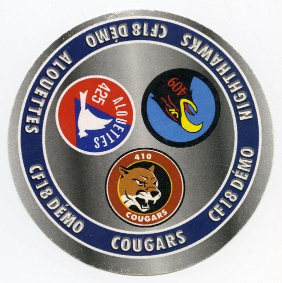 CF-18 Demonstration Teams Sticker