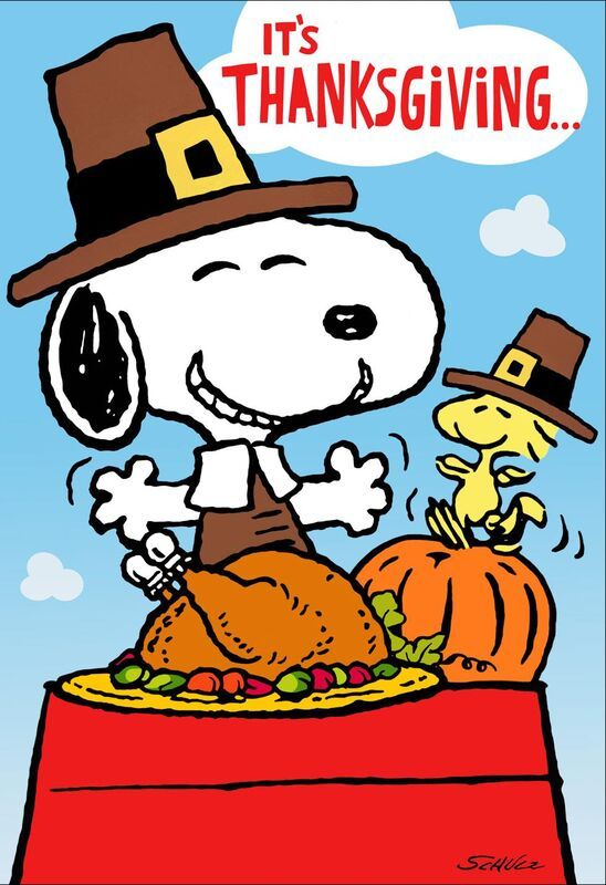 Peanuts Snoopy And Woodstock Feast Thanksgiving Card Thanksgiving Snoopy Snoopy And Woodstock Peanuts Thanksgiving